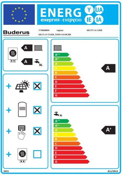 Trinkwasser Solar-Heizsystem Buderus Logamax plus GB 172 T Solar
