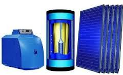 Trinkwasser Solar-Heizsystem Buderus Logano plus GB 125 Solar Trinkwasser