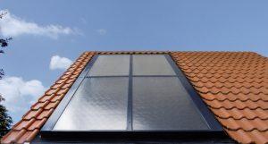 Vitosol 200-F auf Dach montiert