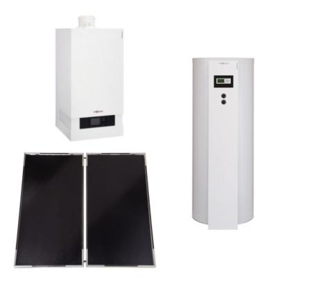 Trinkwasser Solar-Heizsystem Viessmann Vitodens 200-W Trinkwassersolar